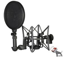 Rode SM6 Microphone Mic Shock Mount with Integrated Pop Shield Filter Screen