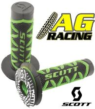 Scott Diamond Green Black Grips Donuts Medium Soft Waffle Kawasaki KX KXF KLX