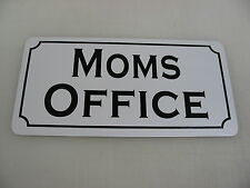 MOMS OFFICE Metal Sign Vintage Style 4 New work Building Car Lot Time Share