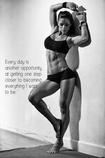 "Michelle Lewin Sex Model Bodybuilding Fitness Motivational Poster 20""x13""  M10"