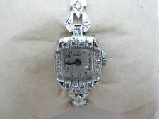Beautiful Ladie's Diamond and Platinum Buren Watch