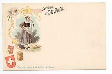 SUISSE SWITZERLAND canton NIEDWALDEN OBWALDEN cpa 1900 costume Souvenir OBWALD