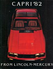 Mercury Capri 1982 USA Market Sales Brochure Standard L GS RS Black Magic