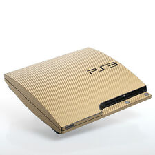 Gold Carbon PS3 slim Textured Skins -Full Body Wrap- decal sticker cover