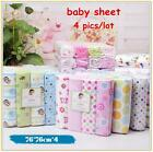 4Pcs/Lot Newborn Baby Bed Sheets 100% Cotton Blankets Baby Bedding Set 76X76cm