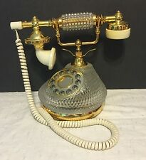 Vintage Victorian Style TT Systems Glass Crystal Touchtone French Telephone