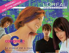 Publicité Advertising 1998  L'OREAL composite colors coloration des cheveux