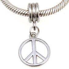 """ANDANTE-STONES SILBER DANGLE BEAD ANHÄNGER """"PEACE"""" LOVE FRIEDEN #3379 + GESCHENK"""