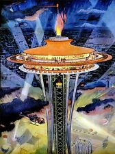 DIPINTI Cityscape Seattle Space Needle Riflettore FIAMMA lv3002