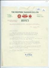 EPHEMERA -182 - WESTERN TANNING LTD, BRISTOL- TRADE UNION  LETTER - MAR 1956