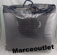 Ralph Lauren Grey Haberdashery Pinstriped KING Comforter