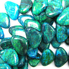 "30mm blue green azurite triangle beads 16"" strand S1"
