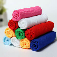 10PCS New Mixed Color Microfiber Car Cleaning Towel Home Washing Polishing Cloth