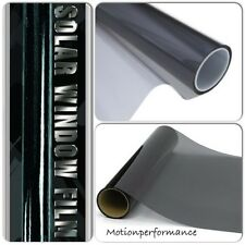 "30"" x 60"" Dark Smoke Black Car & Home Solar Glass Window Safety Tint Film Kit"