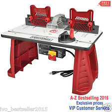 Rockler router table insert model 23669 ebay craftsman router table woodworking garage work shop precision keyboard keysfo Image collections