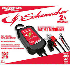 Schumacher SC2 Car Battery Charger Trickle Maintainer 2-Amp 6/12 Volt Motorcycle