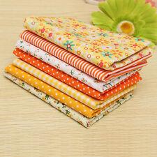 7pcs Coton Tissu Coupons Patchwork Assorti Fleur Pois Carreaux Joli 50x50cm