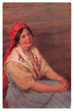 Sitschkoff - Young Woman - early Russia artistic postcard
