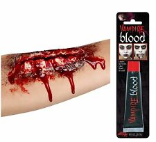 Halloween Fake Open Wound Scar Zombie Make Up Wound With Glue + Blood 37173+9430