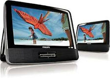 """Philips PD9012 /37 Multi-Region Portable DVD Player with Dual 9"""" LCD Car Kit RB"""