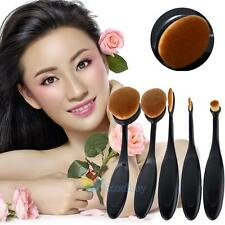 Pro Artis Mac Style Professional Toothbrush Shape Make up Oval Puff Brush 5 Set#