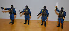 """DC UNIVERSE INFINITE HEROES GOTHAM CITY S.W.A.T. ACTION FIGURE LOT OF 4 3.75"""""""