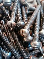 50 X 2 1/2 inch X 1/4 BSW (Whitworth) Round Head Self Colour bolts (studs).