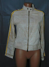 PHARD di LEATHER VERA PELLE Giubbino Giacca Trench  Jacket  Tg M Woman Donna