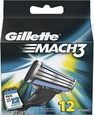 New Gillette Mach3 Pack Of 12 Cartridges Shaving Blades For Razor | Genuine |