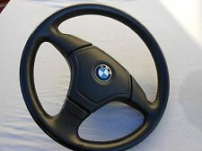 BMW E34 E36 M3 Z3  E39 SRS Sport steering wheel  Black Leather