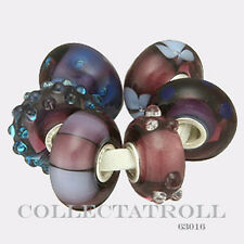Authentic Trollbeads Silver Purple Kit - 6 Beads 63016
