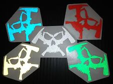 Firefighter Decals and More Skull & Axes Logo Reflective Decal Pack Stickers