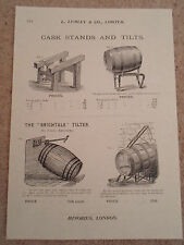 CASK STANDS AND TILTS Vintage Images Copy Print Lumley+Co Minories London #272