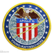Apollo 16 Mission Embroidered Patch (Official Patch) 10cm Dia approx