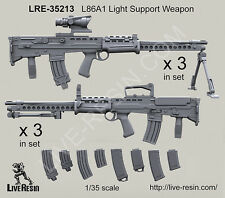 Live Resin 1/35 L86A1 Light Support Weapon (6 sets)