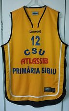 CSU SIBIU ROMANIAN BASKETBALL EURO LEAGUE JERSEY BY SPALDING SIZE XL