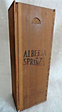 Vintage ALBERT SPRINGS Canadian Sipping Whisky Advertising Wood Box Sliding Lid