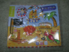 Pirata Cookie Cutter Set 8 PEZZI ~ Parrot Nave Pirata Jolly Roger Treasure Chest
