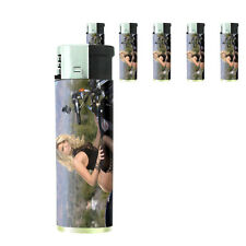 Ohio Pin Up Girls D6 Lighters Set of 5 Electronic Refillable Butane