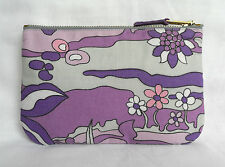 70s Retro Vintage Small Clutch Bag Purse ipod Case Lilac & Purple Fantasy Floral