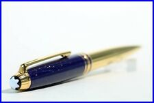 Montblanc RAMSES II N° 164  Ballpoint Pen LAPIS BLUE & 925 Gold plated Silver