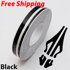 "1/2"" Streamline Pin Stripe Pinstriping 12mm Tape Vinyl Decal Sticker Car Black"
