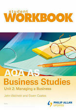 AQA AS Business Studies: Workbook Unit 2 (Pack of 10 + Teacher's Book) Wolinski,