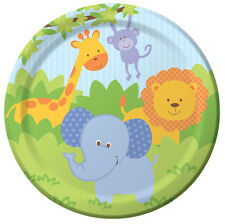 Forest Friends Dessert Plates (8) - Jungle Safari Themed Birthday Party Supplies