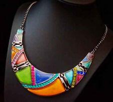 Luxus Statement Kette Paris Halskette Gliederkette Prestige Kristall Resin Stras