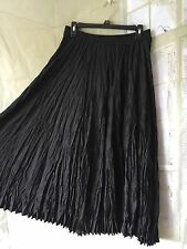 SILK COLLECTION Black Broom Long Skirt Size Small 100% Silk