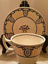Wedgwood CHIPPENDALE Black and Gold Demitasse Cup & Saucer