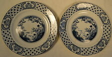"Adams Tunstall 1920's Blue & White EIGHT 8 Tokio Asian Geisha Pattern 8"" Plates"