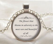 Book quote Cabochon Glass silver necklace for women men Jewelry