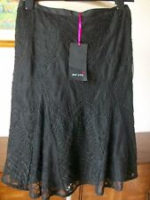 Per Una Black Lined Lace Skirt, Size 22, Machine Washable, M&S, BNWT  £55